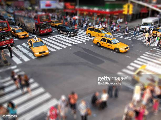 Crossroad at Times Square, tilt shift