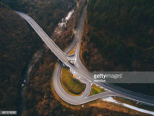Crossroad from above