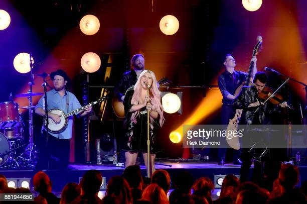 Crossroads featuring Kesha Old Crow Medicine Show perform onstage at The Factory on November 21 2017 in Franklin Tennessee