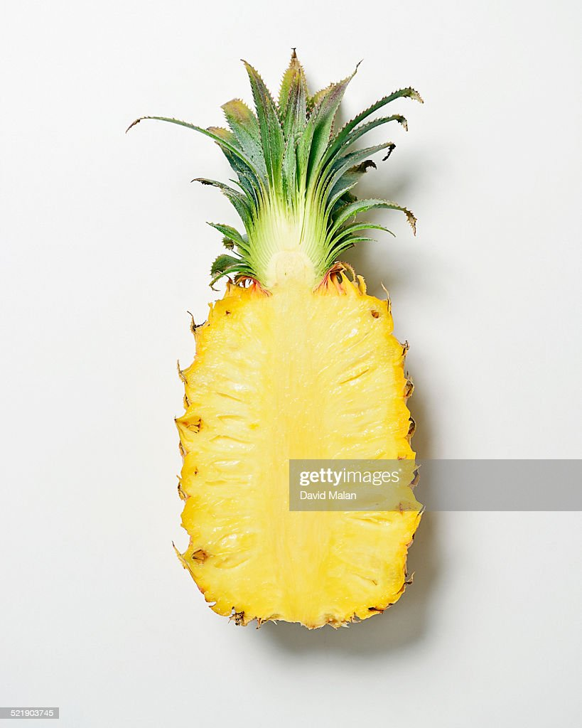 Cross-section of a pineapple