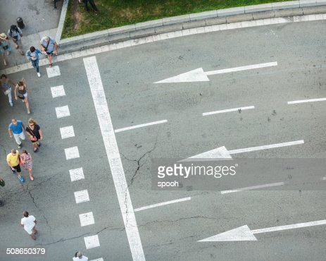 Crosswalk in Barcelona : Stock Photo