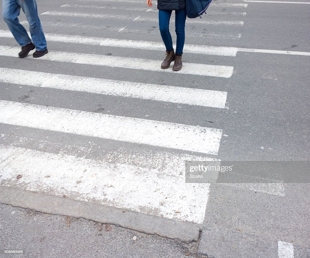 Crosswalk. : Stock Photo