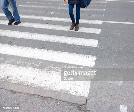 Crosswalk. : Stockfoto