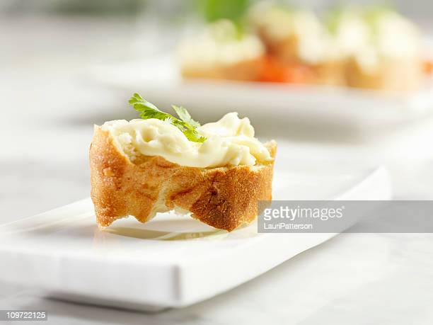 Crostini Topped with Brie Cheese