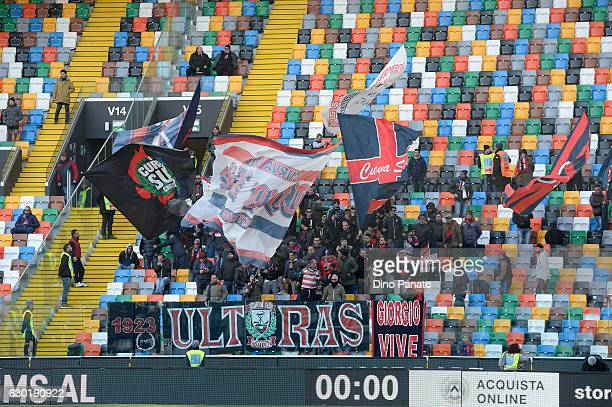 Crotone fans shows their support during the Serie A match between Udinese Calcio and FC Crotone at Stadio Friuli on December 18 2016 in Udine Italy