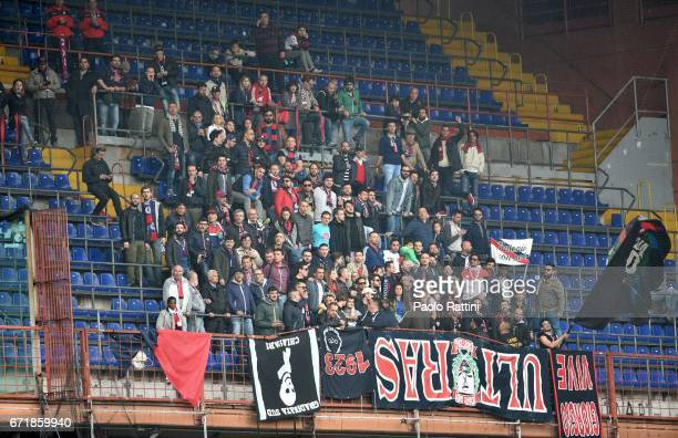 Crotone supporters during the Serie A match between UC Sampdoria and FC Crotone at Stadio Luigi Ferraris on April 23 2017 in Genoa Italy