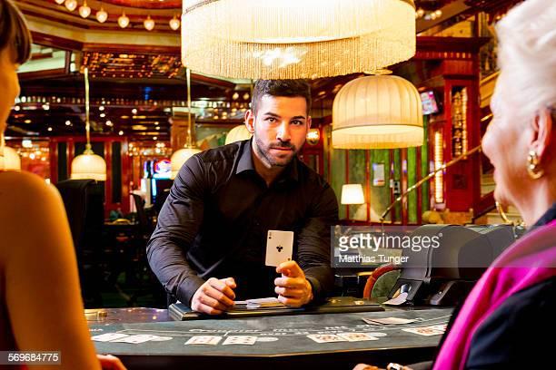 Croupier in the casino