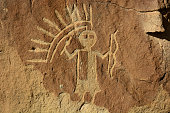 Crow Canyon Petroglyph Panel - New Mexico, USA