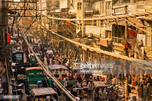 Crowd and Rickshaws at Chawri Bazar