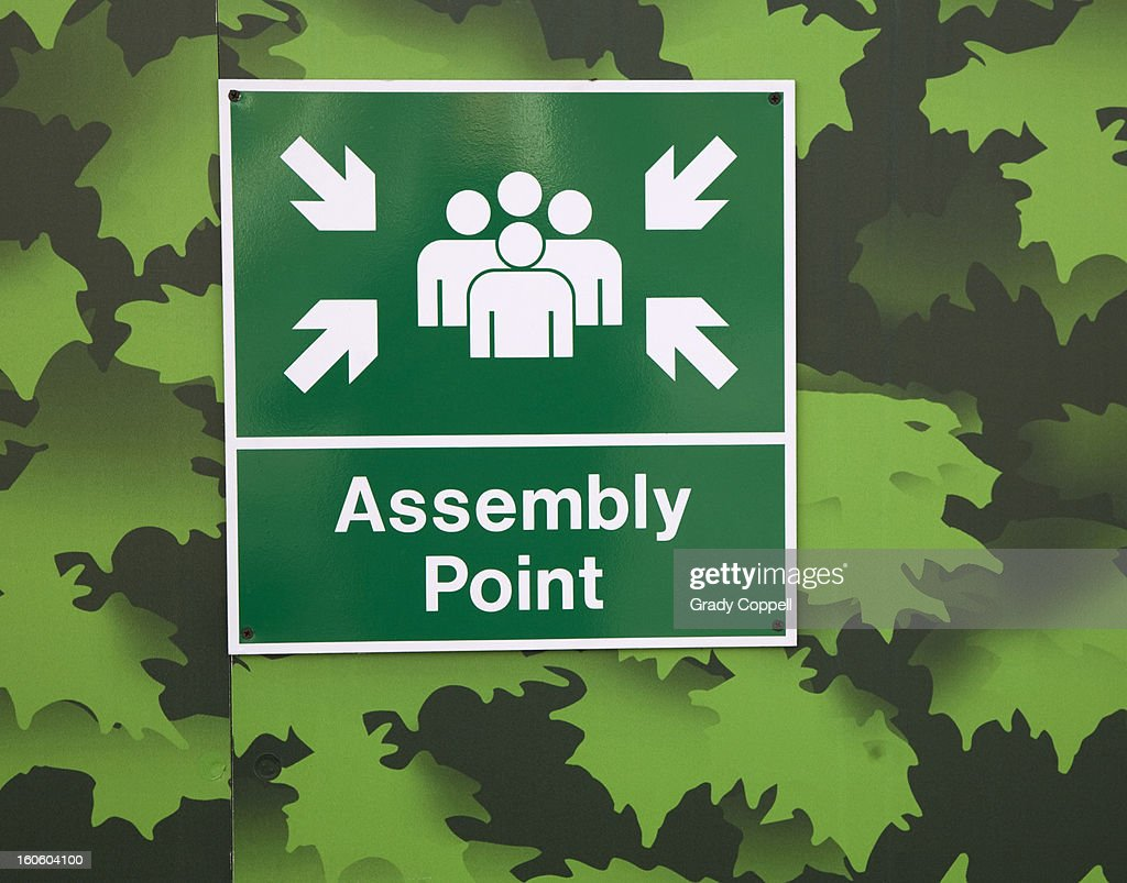 Crowd assembly point : Stock Photo