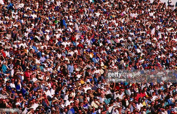 Crowd at a football match.