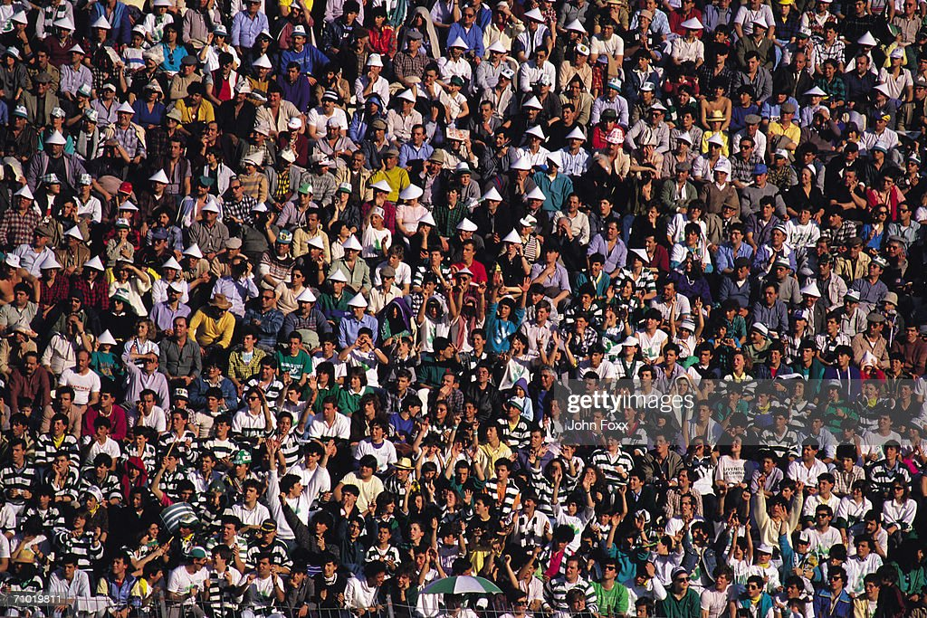 crowd at a match : Stock Photo