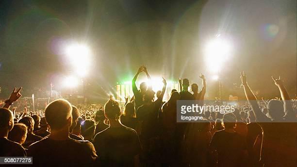 Multitud en un concierto de música)