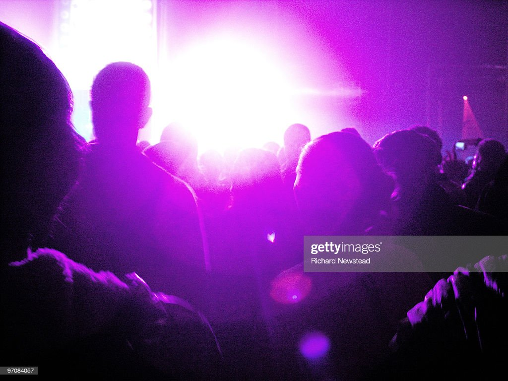 Crowd at a Rave : Stock Photo