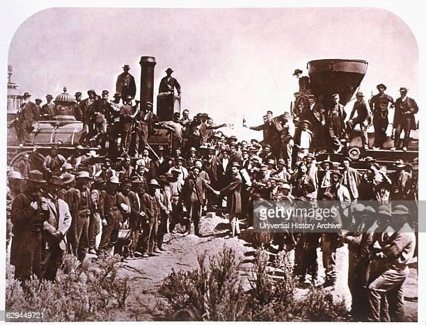 trans continental railroad The first transcontinental railroad, built between 1864 and 1869, was the greatest construction project of its era.