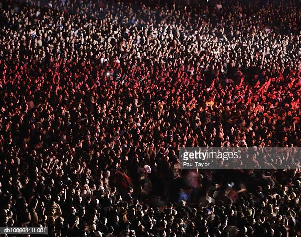 Crowd at concert, elevated view (full frame)