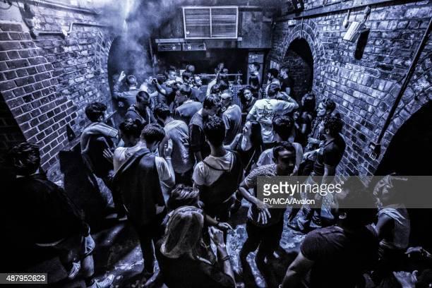 Crowd at Fabric nightclub Farringdon London