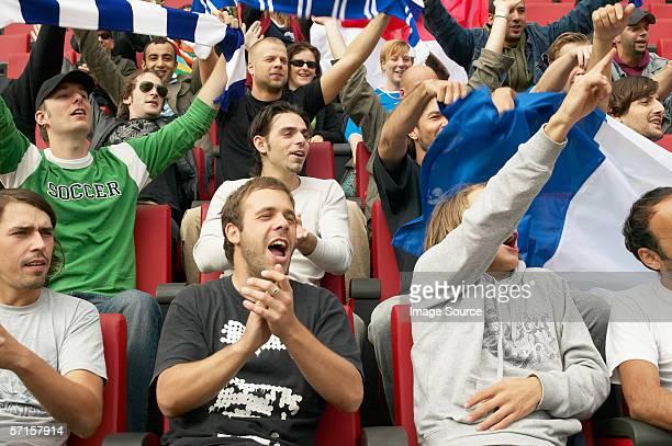 Crowd at football match