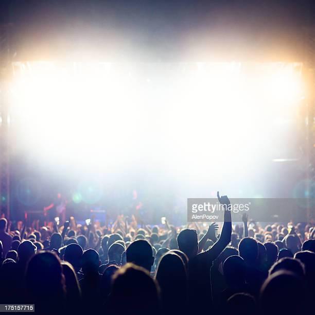 Multitud en concierto de música)