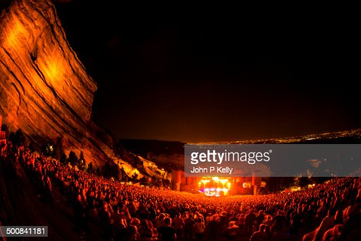 Crowd at Red Rocks Amphitheatre in Morrison, Co