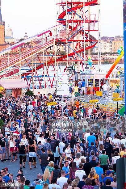 Crowd at Rhine and fun fair