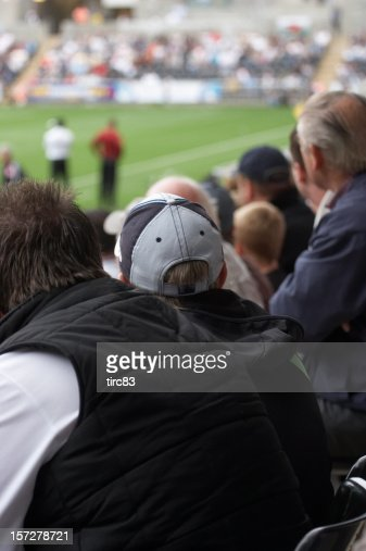 Crowd at the football match : Stock Photo