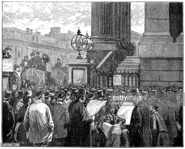 Crowd at the Mansion House reading the bulletins of the Prince of Wales's illness 1871 In 1871 the future King Edward VII was taken ill with typhoid...