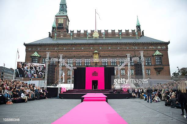 Crowd atmosphere at 'The World's Greatest Catwalk' show during an attempt to break the Guinness World Record for Longest Runway at 'Copenhagen...