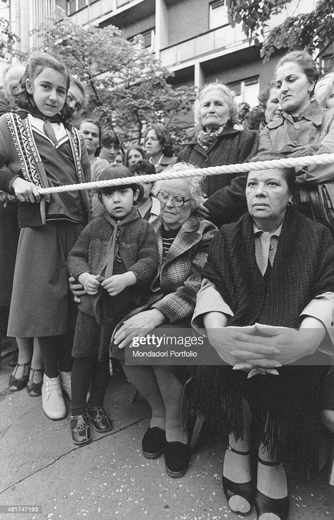 Crowd attending the funerals of the President of the Socialist Federal Republic of Yugoslavia <a gi-track='captionPersonalityLinkClicked' href=/galleries/search?phrase=Josip+Broz+Tito&family=editorial&specificpeople=93742 ng-click='$event.stopPropagation()'>Josip Broz Tito</a>. Belgrade, 8th May 1980
