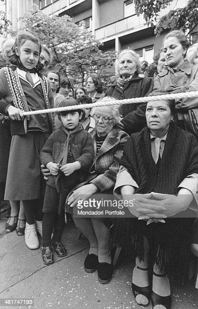 Crowd attending the funerals of the President of the Socialist Federal Republic of Yugoslavia Josip Broz Tito Belgrade 8th May 1980