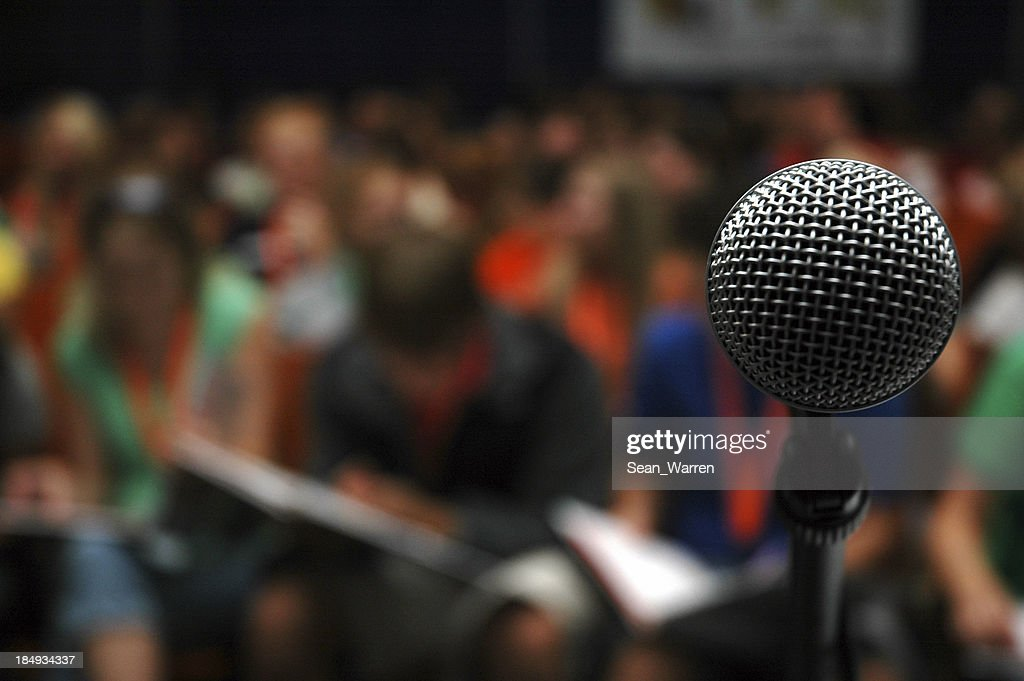 Crowd - Audience & Microphone : Stock Photo