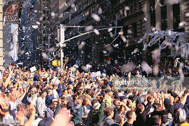 Crowd Celebrating at Ticker-tape Parade