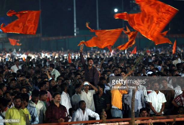 Crowd during Shivsena's Dussehra rally at Shivaji Park
