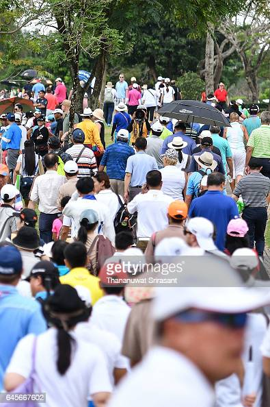 Crowd during the final round of Honda LPGA Thailand at Siam Country Club on February 26 2017 in Chonburi Thailand