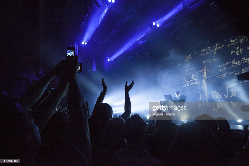 Crowd enjoying of Pet shop Boys' concert at Sonar on June 15, 2013 in Barcelona, Spain.