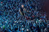 Crowd gather to listen Bruce Springsteen The E Street Band in Bela Vista Park during the first day of Rock in Rio Lisbon festival on May 19 2016 in...