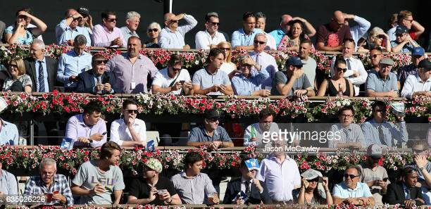 Crowd gather to watch Winx at the Theatre of the Horse prior to the Apollo Stakes at Royal Randwick Racecourse on February 13 2017 in Sydney Australia