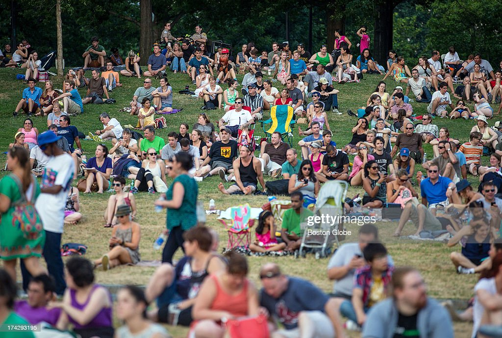 A crowd gathered as The Lemonheads performed during the Outside the Box Performing Arts Festival held on the Boston Common.