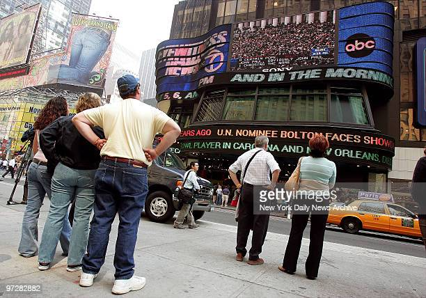 Crowd gathers in Times Square to watch the jumbotron as the announcement is made that a new Pope has been elected The new leader of the Catholic...