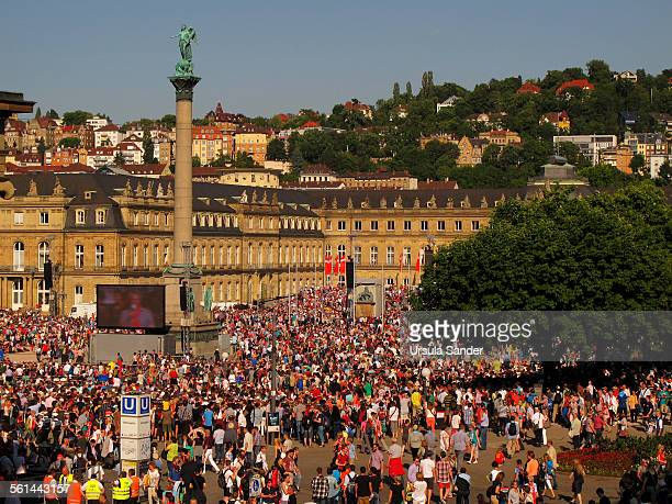 Crowd in front of New Castle Stuttgart, Germany