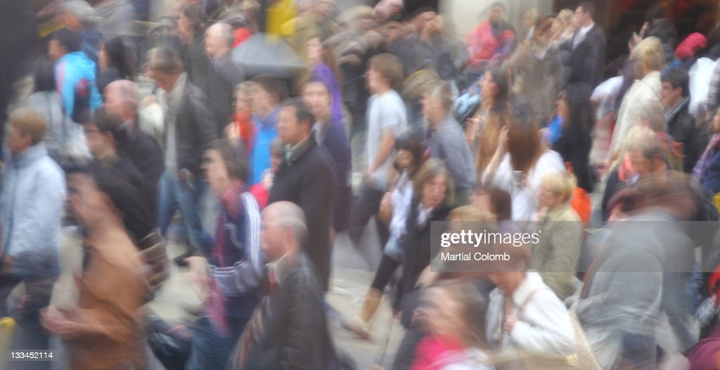 crowd in movement : Stock Photo