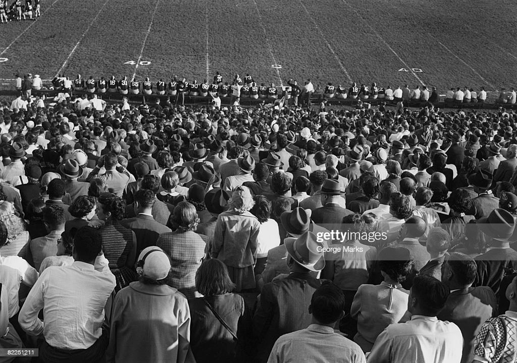 Crowd in stadium : Stock Photo