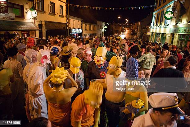 Crowd in street at Festival-of-the-Erne.
