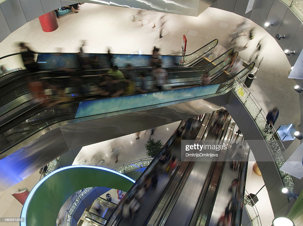 Crowd in the mall : Stock Photo