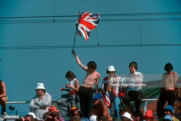 Crowd in the sunshine England v Australia 2nd Test Old Trafford June 1977