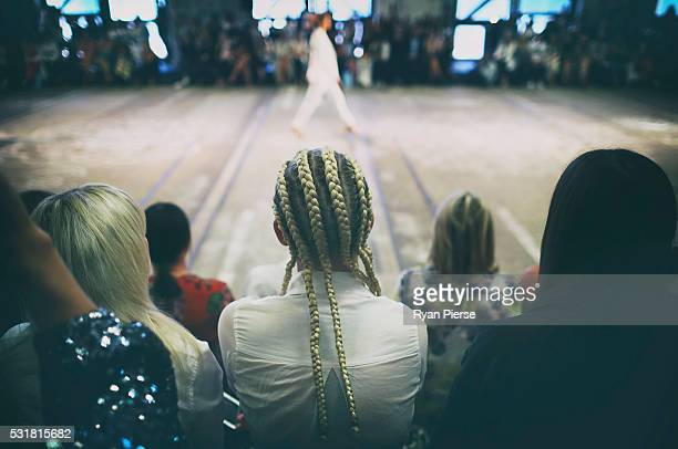 Crowd looks on during the Bec Bridge show during MercedesBenz Fashion Week Australia at Carriageworks on May 17 2016 in Sydney New South Wales