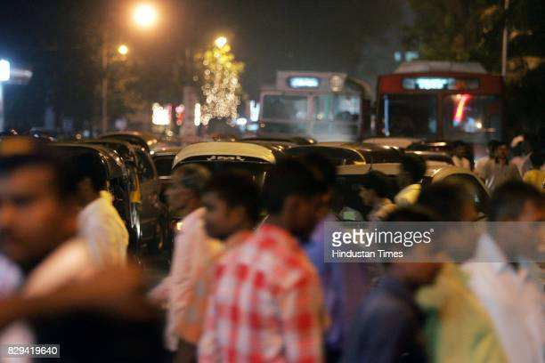 Crowd movement affects traffic flow on the eve of Chhat Puja at Juhu Beach on Sunday