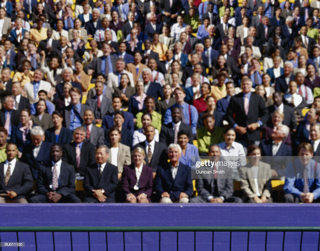 Crowd of Businesspeople in a Grandstand : Stock Photo