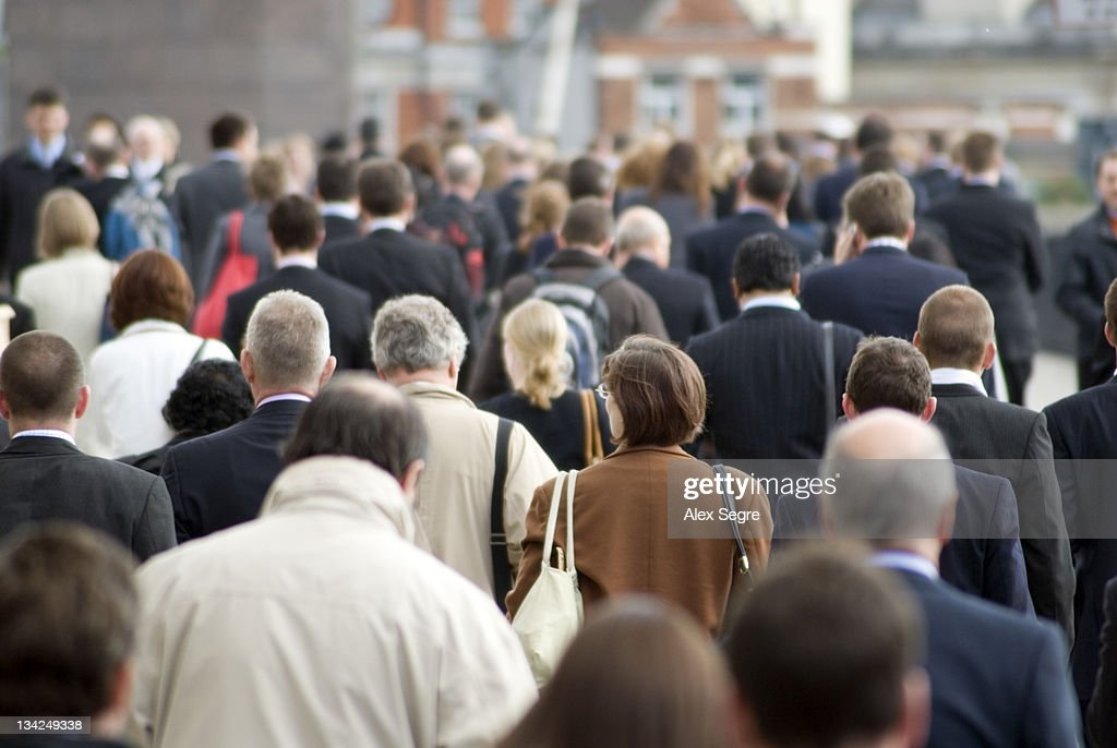 Crowd of commuters : Stock Photo