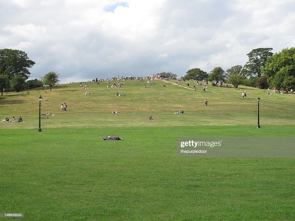 Crowd of people on primrose hill